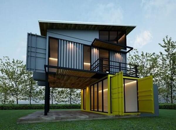 Casa container com dois andares