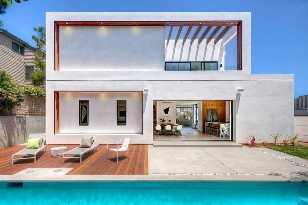 casa linda minimalista com piscina