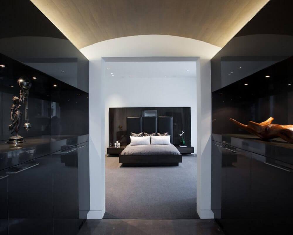 casas chiques com quarto preto