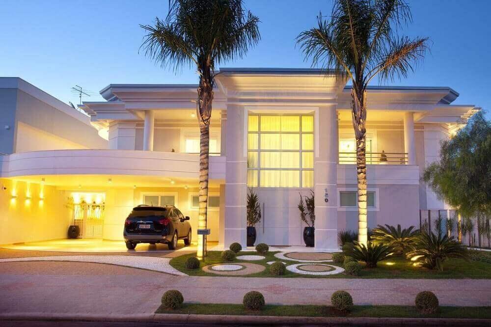 casas lindas com fachadas suntuosas