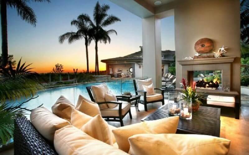 casas lindas com varanda e piscina
