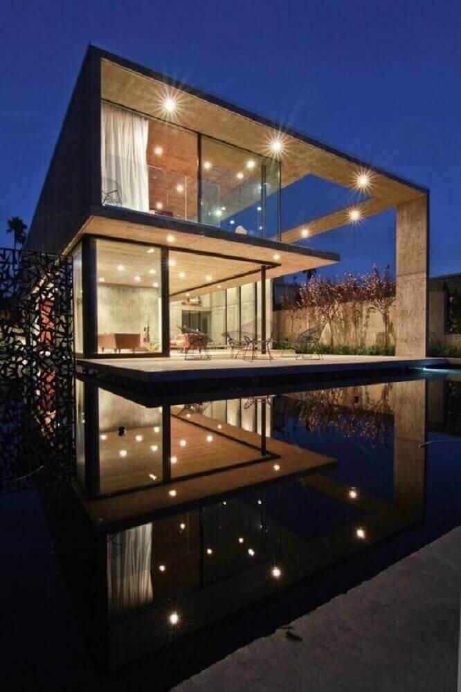casas perfeitas com fachada de vidro