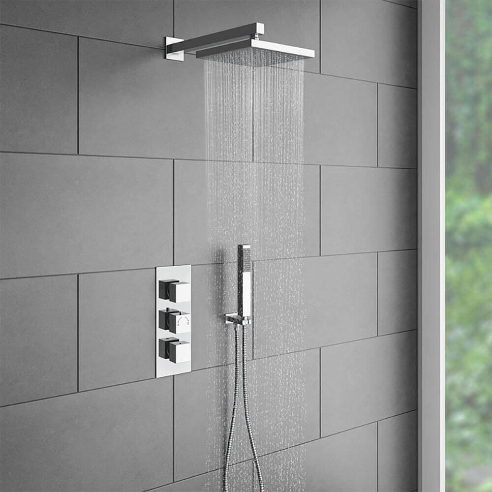 chuveiro quadrado para banheiro
