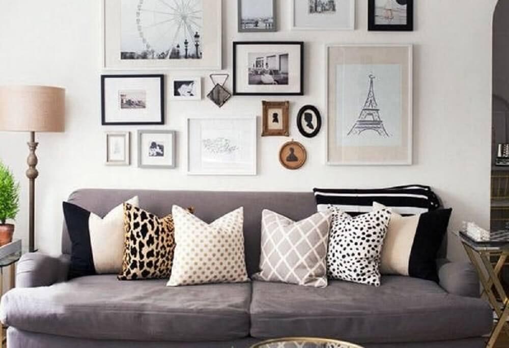 como escolher almofadas para sofá