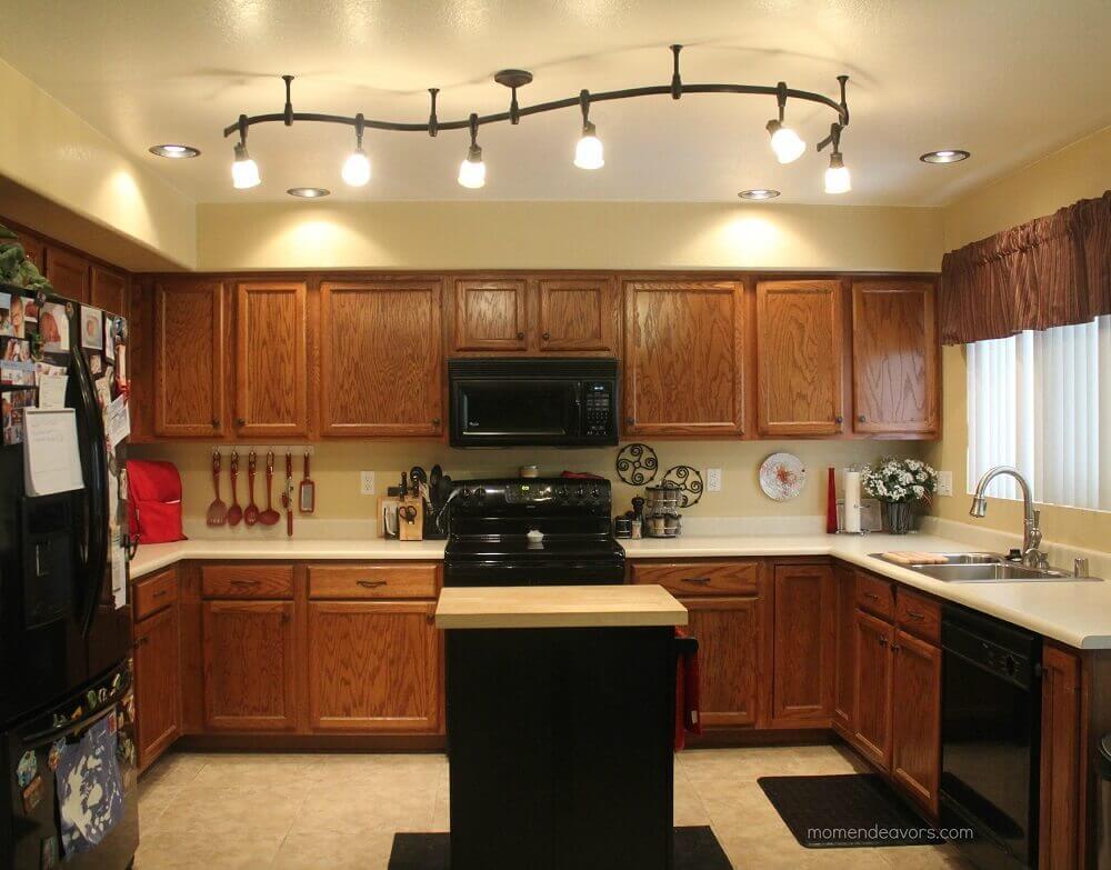 cozinha rústica luminária moderna para cozinha
