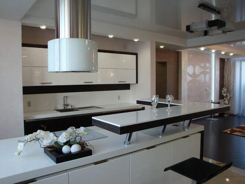 Modelo de decoração para cozinhas modernas