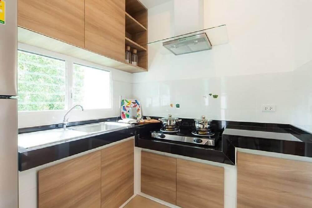 cozinhas modernas de madeira