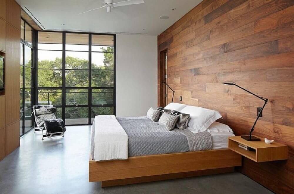 decoração com luminária minimalista para quarto
