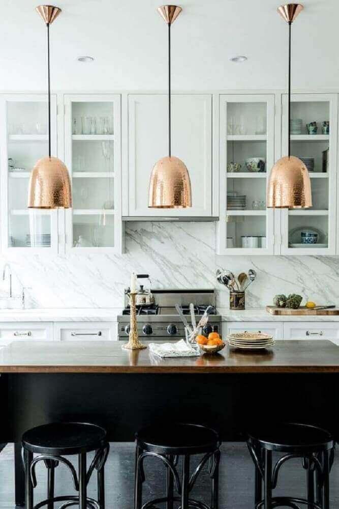 decoração com luminária para cozinha americana casas lindas