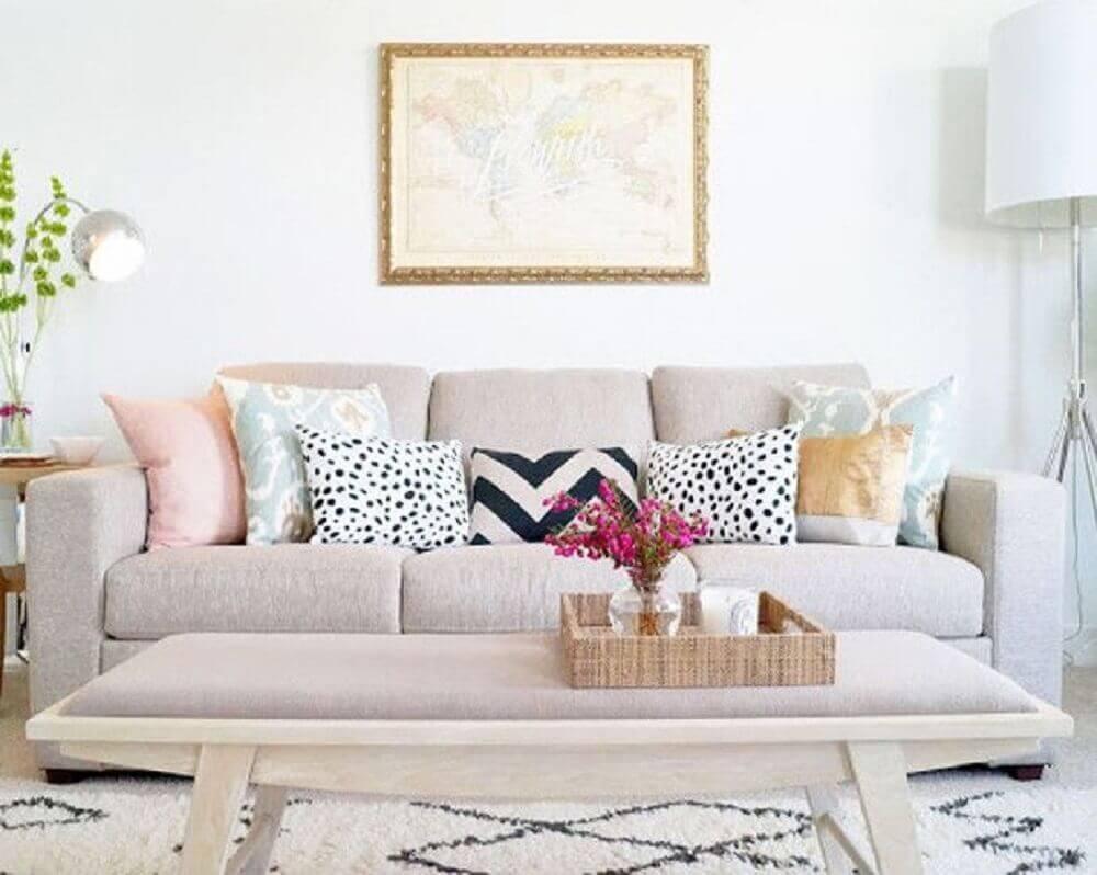 decoração com mix de almofadas para sofá