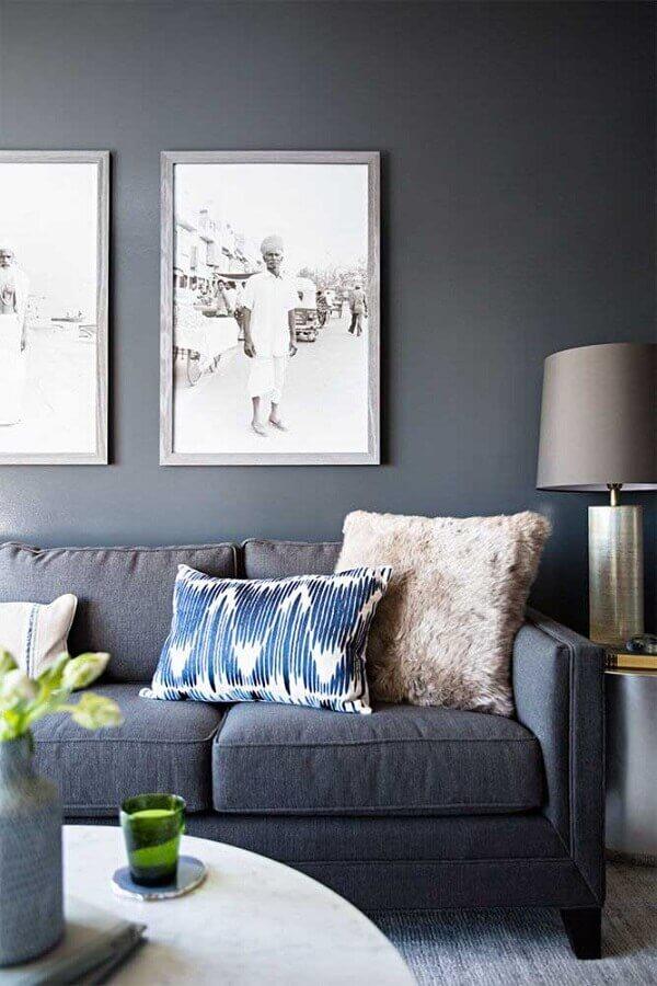 decoração de sala cinza  Foto Home Fashion Trend