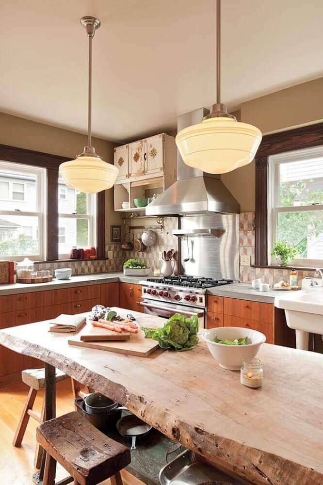 decoração luminária pendente para cozinha