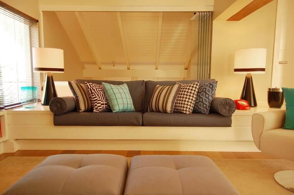 decoração com almofadas decorativas para sofá
