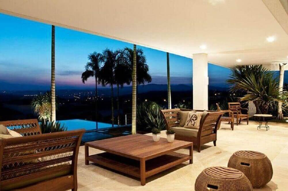 Decoração de varanda para casas lindas