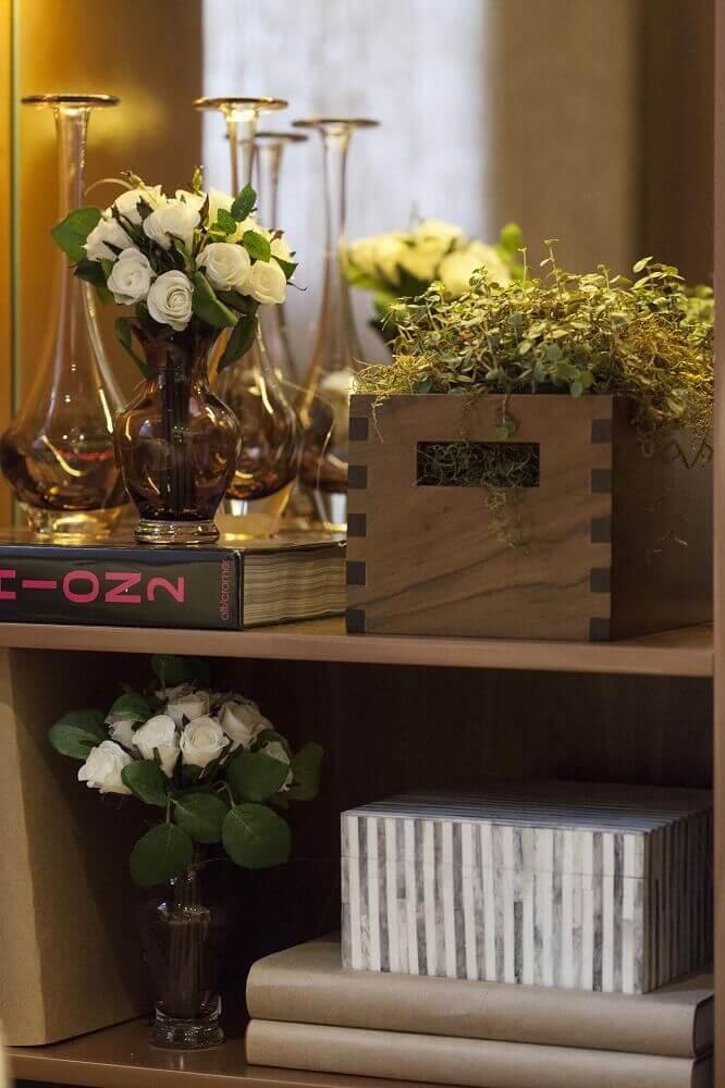 vaso decorativo para ambiente rústico