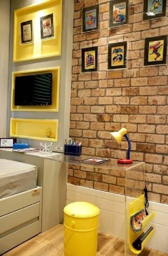 escrivaninha de acrílico para quarto