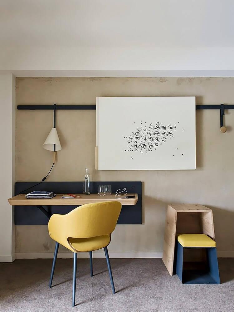 escrivaninha suspensa minimalista