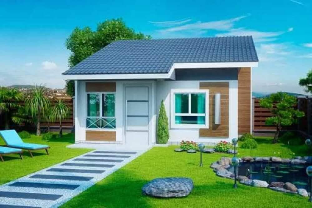 fachada de casa simples e pequena