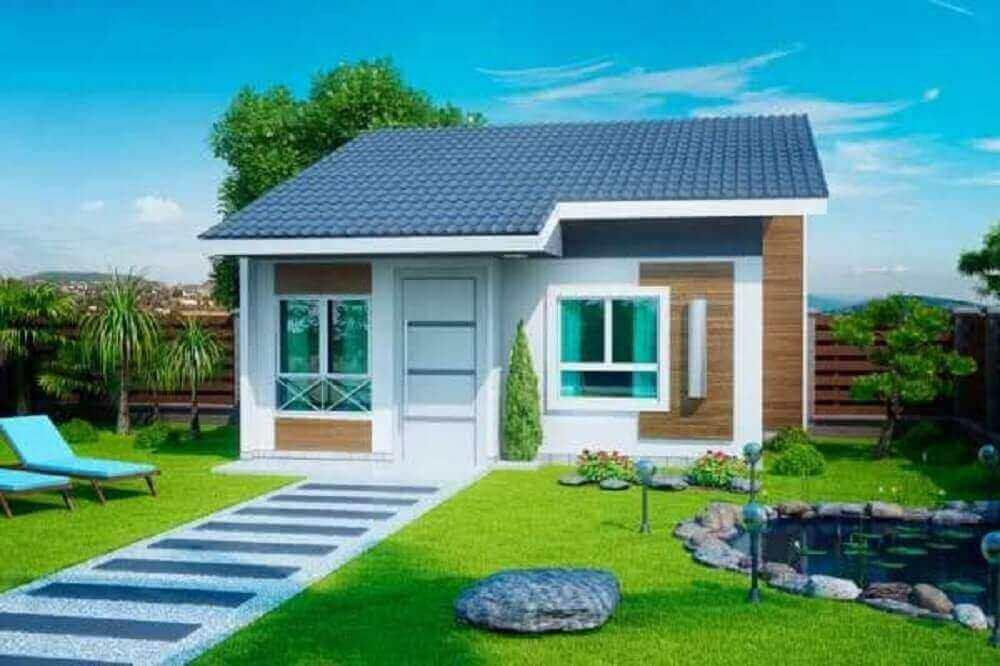 fachada de casas pequenas e lindas