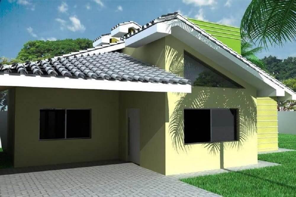 frente de casa simples