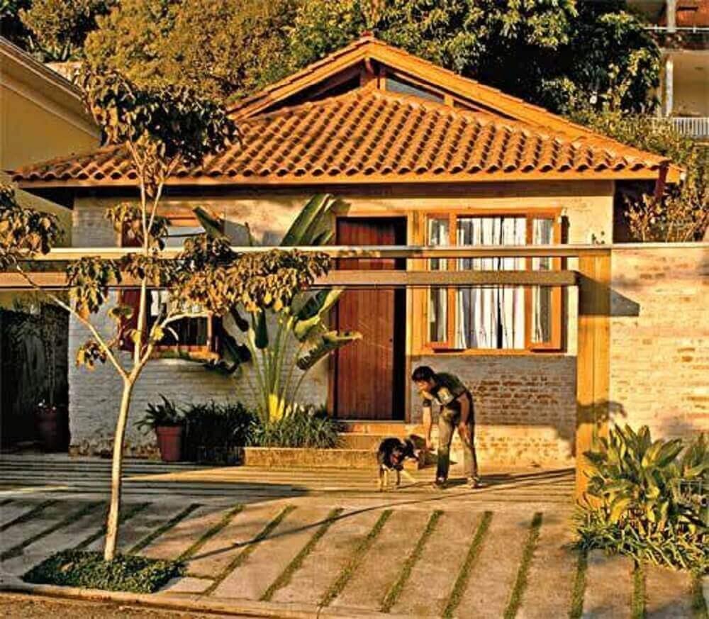 frente de casas simples e bonitas