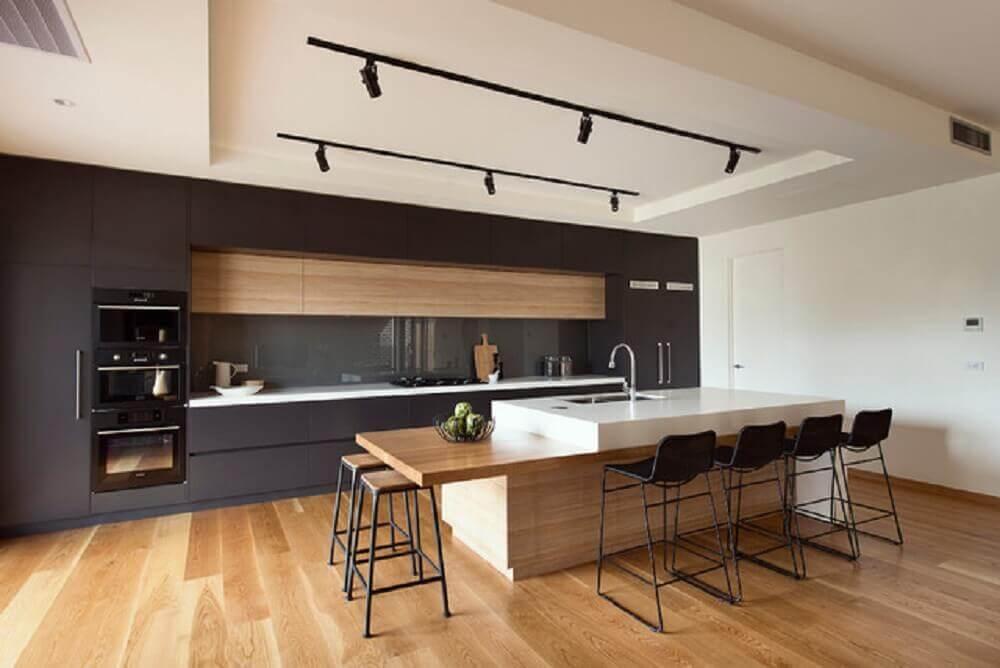 grandes cozinhas planejadas modernas