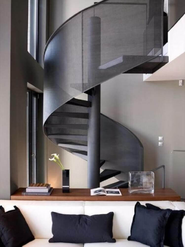 guarda corpo moderno escada caracol