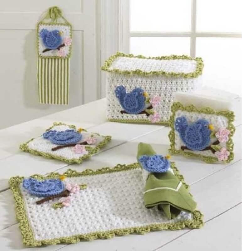 kit de jogo de cozinha de crochê