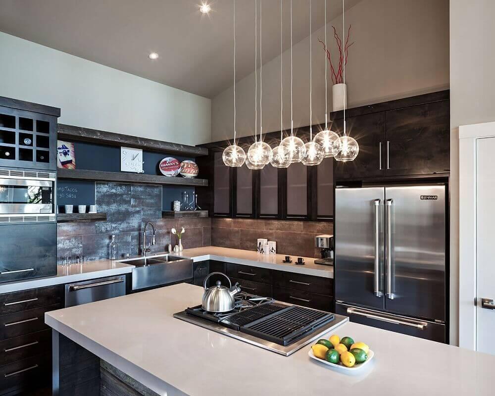 luminária redonda para cozinha