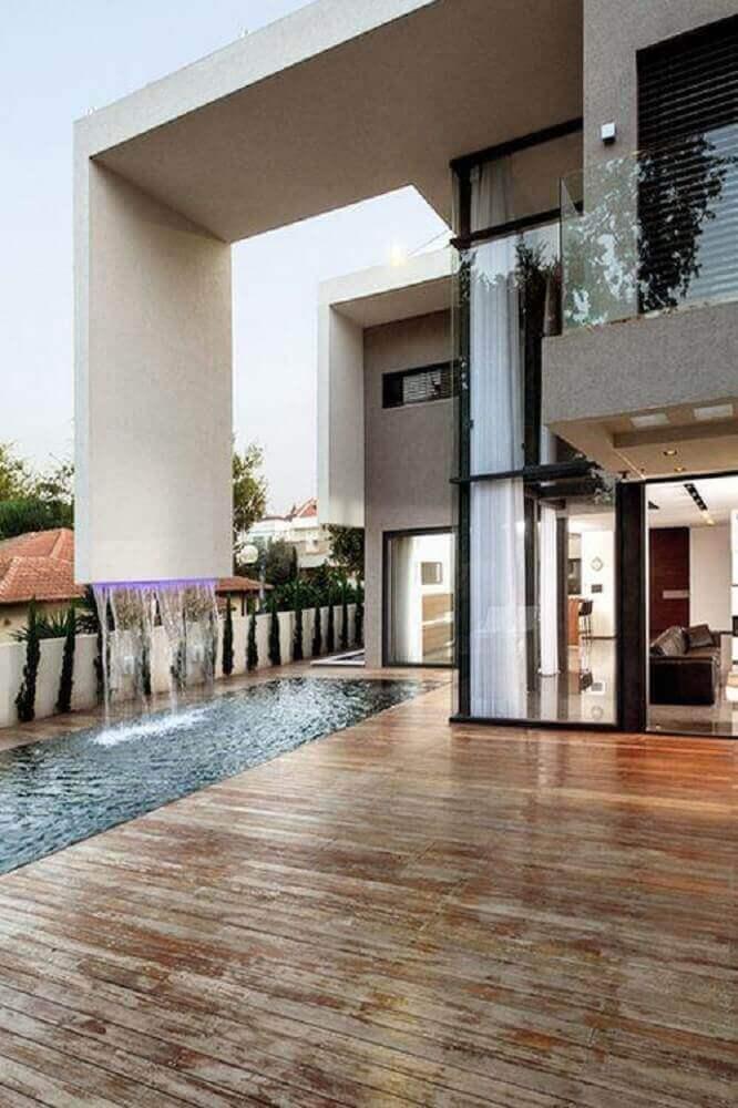 lindas casas com cascata