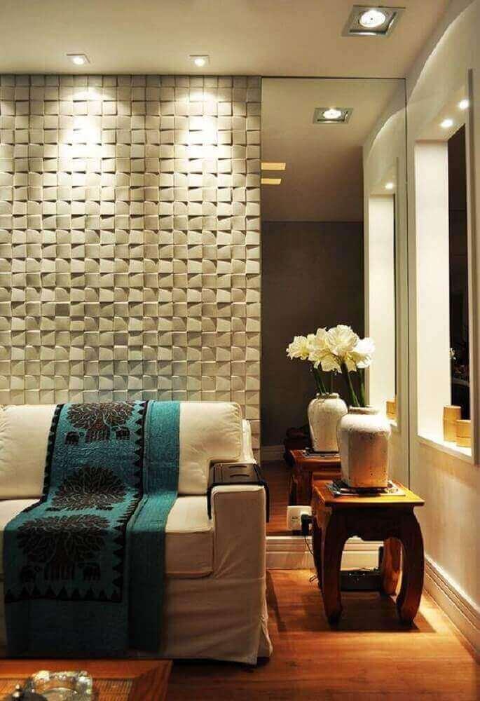 lindas casas com revestimento de parede em 3D