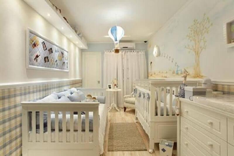 luminária de balão para quarto de bebê