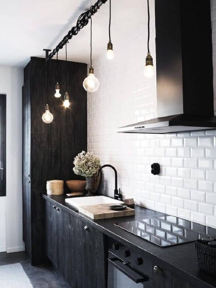 luminária moderna para cozinha preta e branca