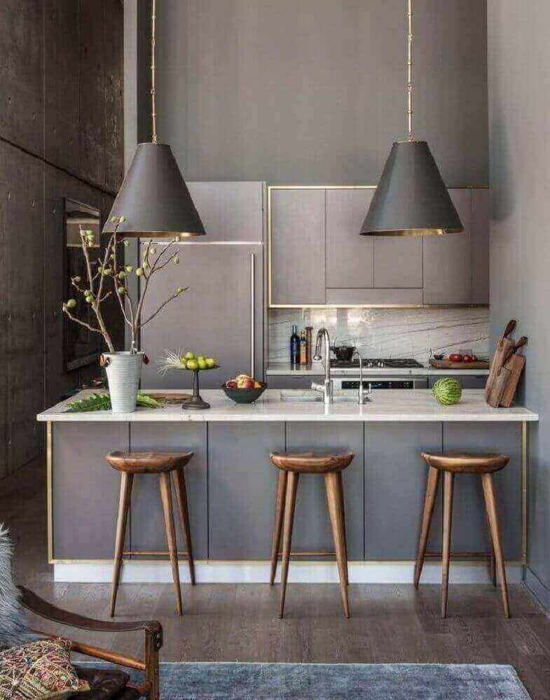 luminária para cozinha americana moderna