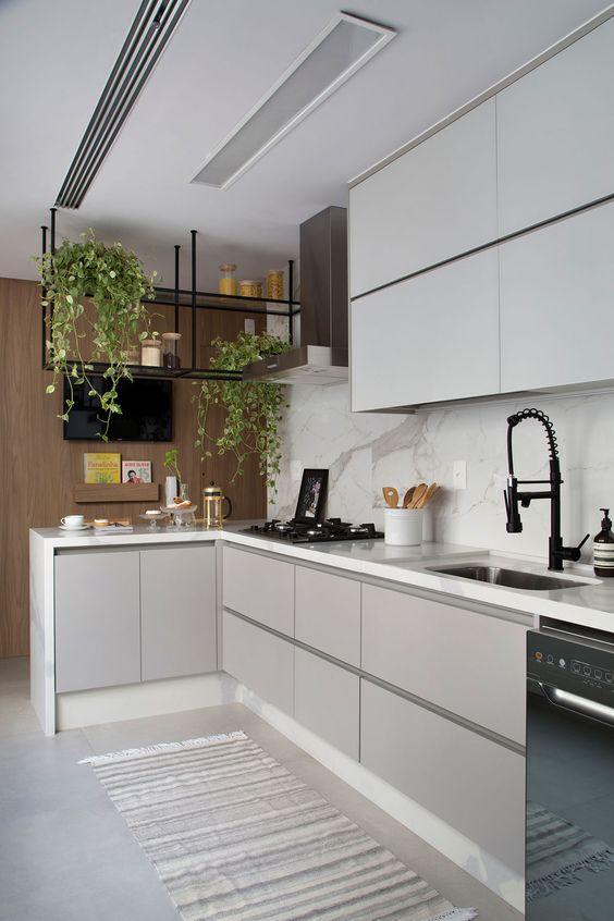 luminária para cozinha - luminária embutida simples