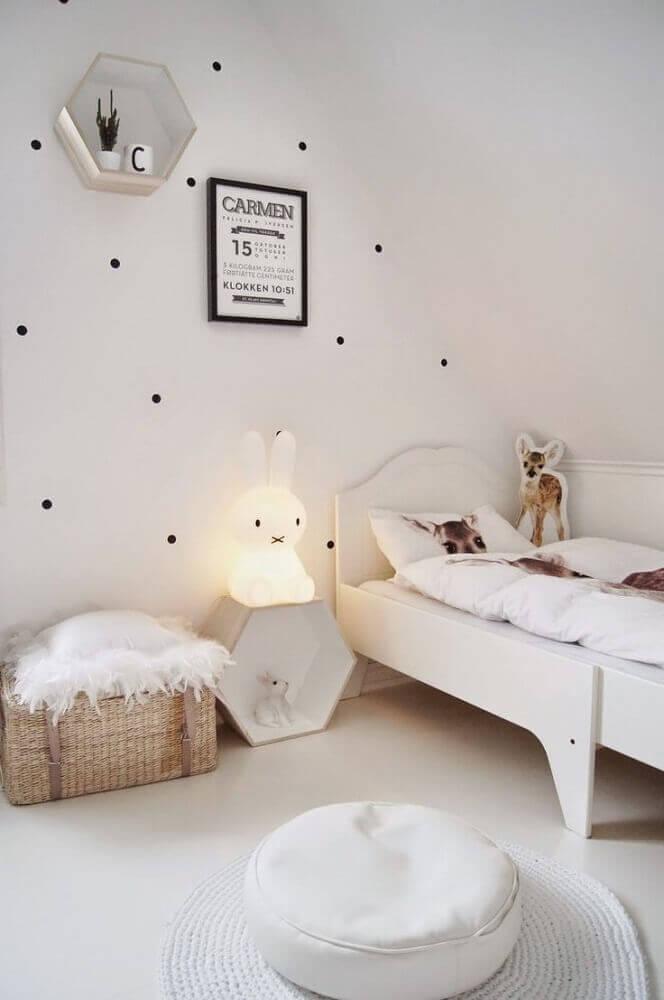 luminária para quarto de bebe em formato de coelhinho