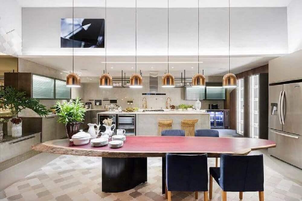 luminária pendente para cozinha grande