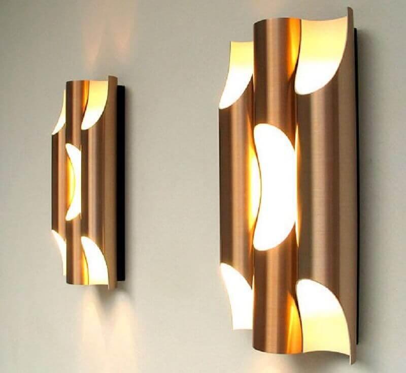 luminárias de PVC para parede