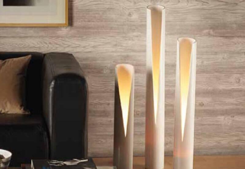 luminárias de PVC para sala