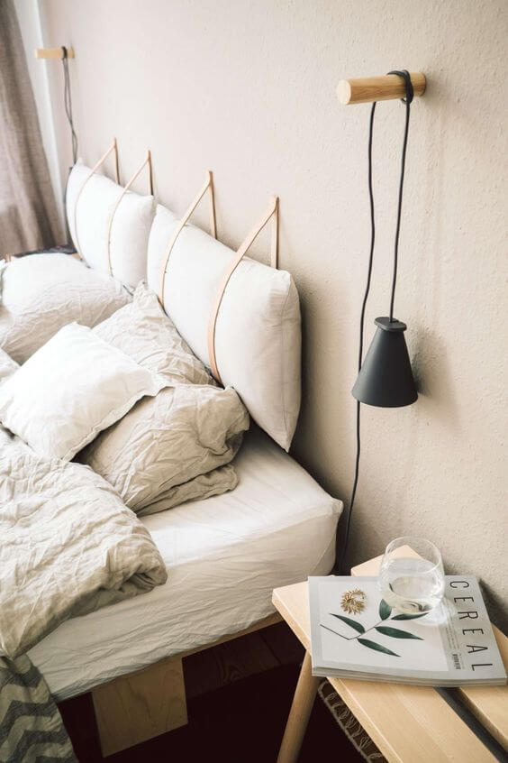 Luminária para quarto moderno e clean