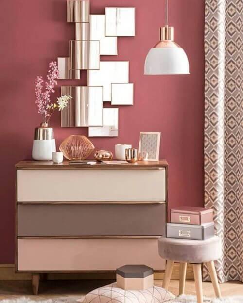 Luminária para quarto rosa com branco