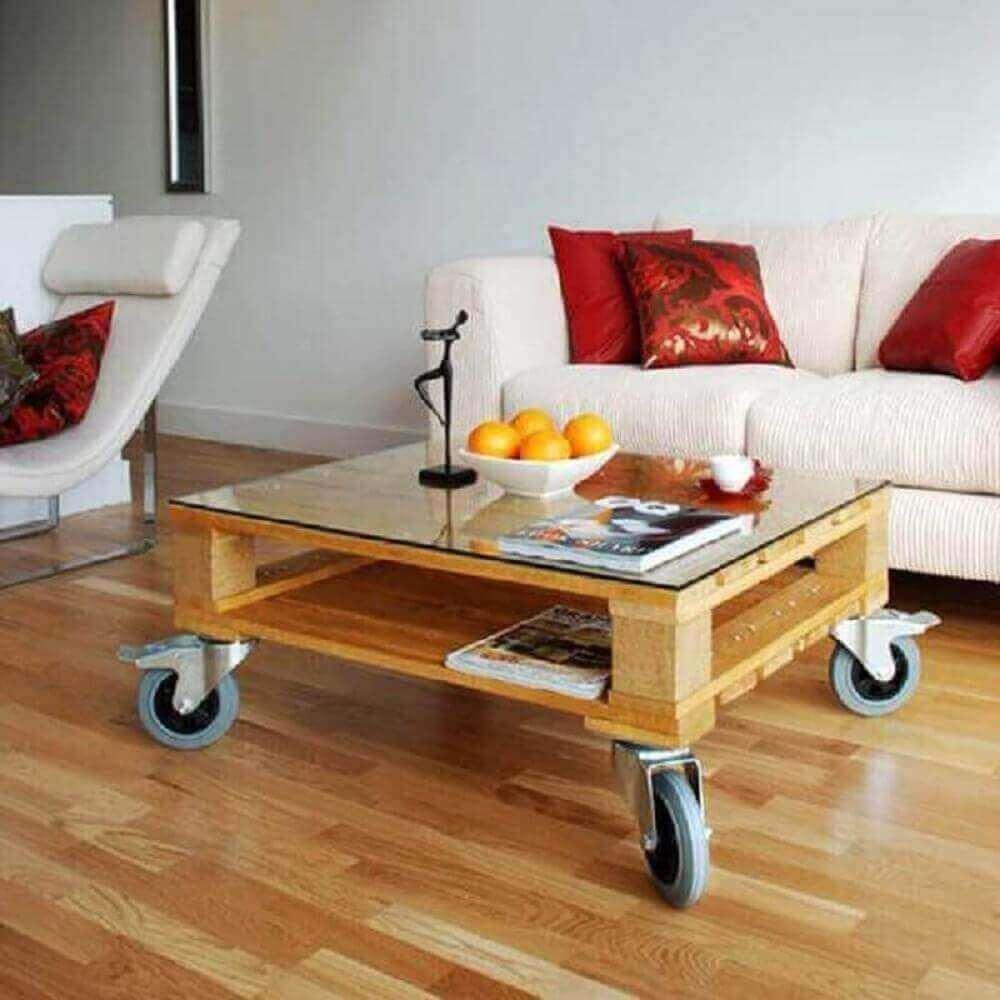 modelos de mesas de centro de pallet