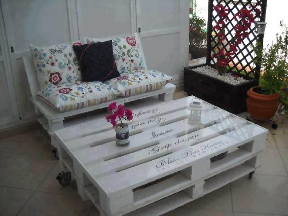 mesa de centro de pallets