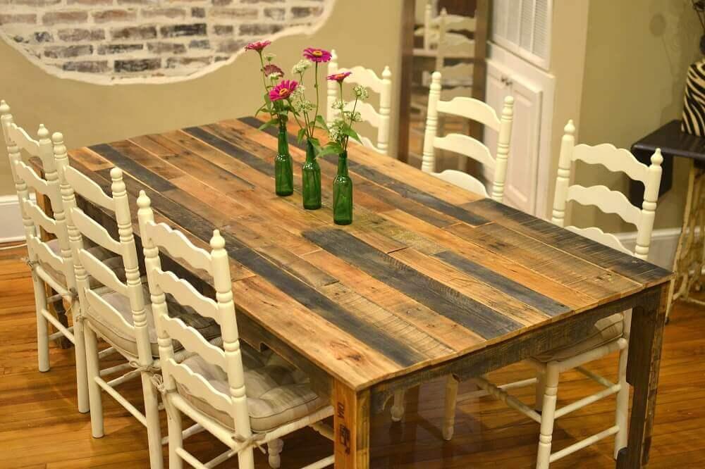 mesa de pallet para sala de jantar