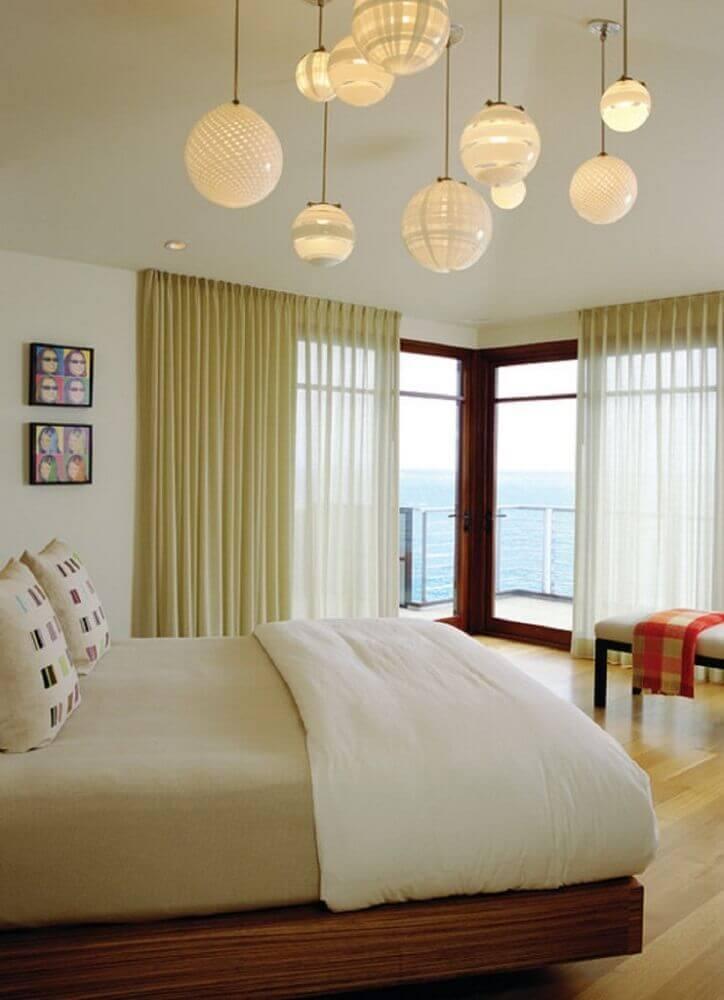 modelo de luminária de teto para quarto de casal