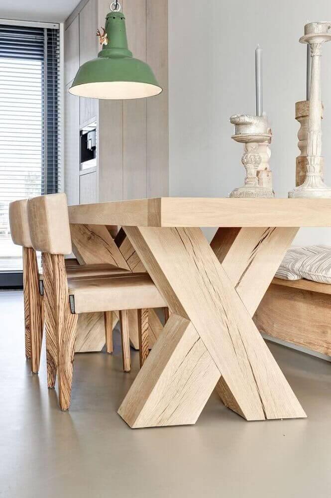 modelo de mesa de madeira para sala de jantar