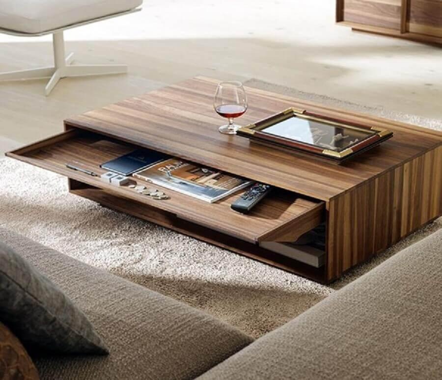 modelo de mesa de madeira para sala