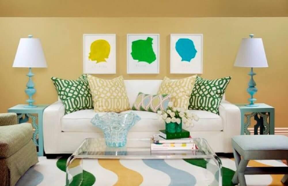 modelos de almofadas coloridas para sofá