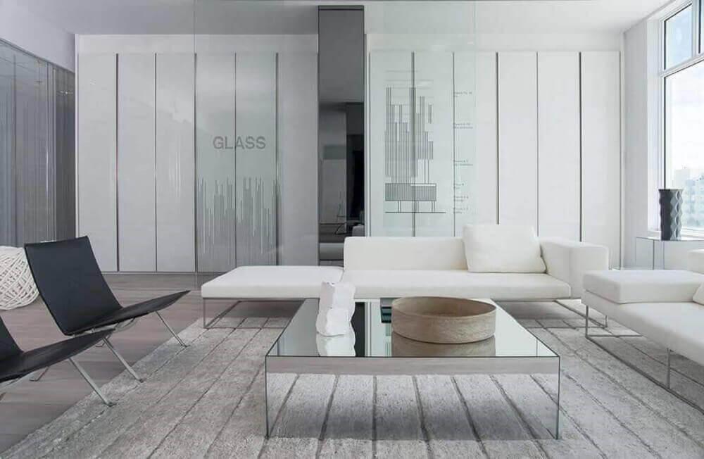 modelos de mesa de centro espelhada