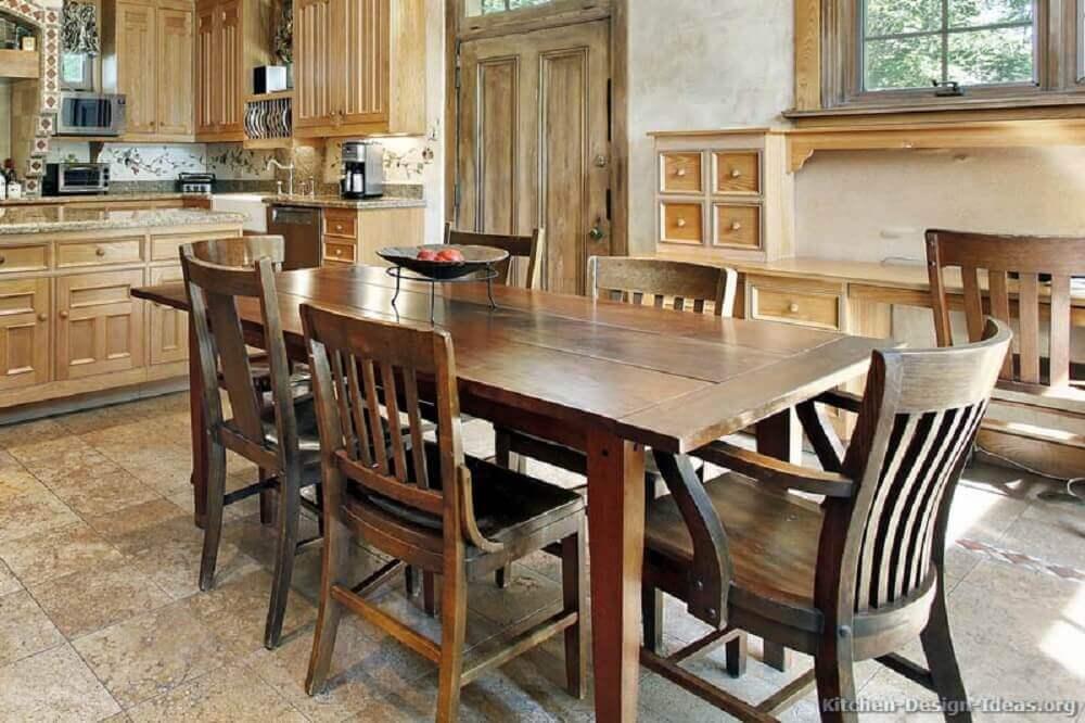 modelos de mesa de jantar de madeira